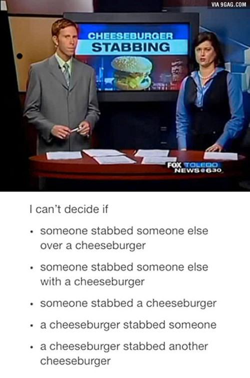 Cheeseburger Stabbing 2