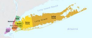 a map of Long Island, New Yori