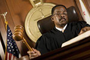 Judge announcing a sentence