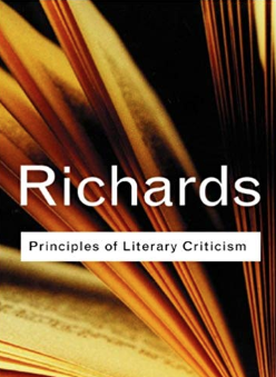 The front cover of Principles of Literary Criticism by I A Richards