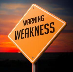 weakness warning