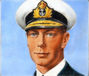 A portrait of King George VI