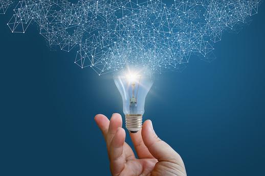 A light bulb symbolizes new ideas